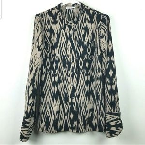 Calvin Klein Animal Print Blouse sz S
